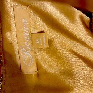 RICARICA PROM GOLD GLITTER DRESS